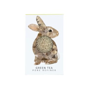 The Konjac Sponge Co Mini Pore Refiner Woodland Rabbit with Green Tea