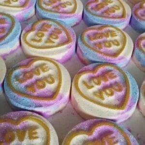 Unique Creations Snow Fairy Love Hearts Bath Bomb