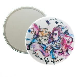 Viva La Vegan Pocket Mirror