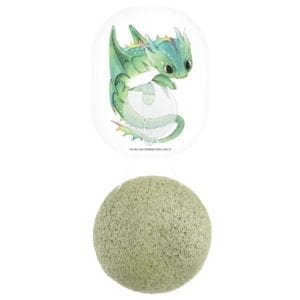Konjac Sponge Dragon with Green Clay