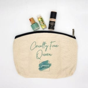 Cruelty Free Queen Makeup Bag