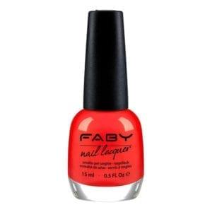Faby Lucky Coral Nail Polish