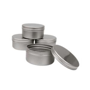 Travel Size Refillable Aluminium Pots - Large- Group