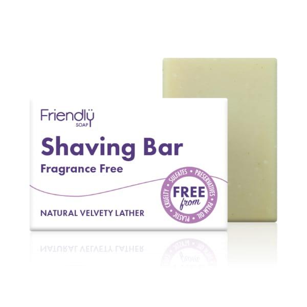 Friendly Soap Fragrance Free Shaving Soap