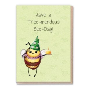 1 Tree Cards Bee Day Flowers
