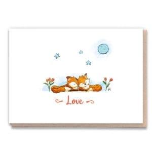 1 Tree Cards Fox Love