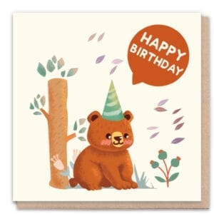 1 Tree Cards Happy Birthday Bear