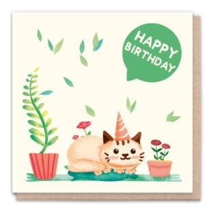 1 Tree Cards Happy Birthday Cat