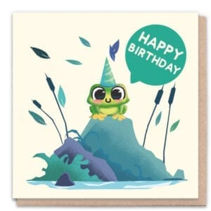 1 Tree Cards Happy Birthday Frog