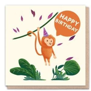 1 Tree Cards Happy Birthday Monkey