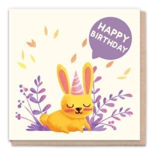 1 Tree Cards Happy Birthday Rabbit