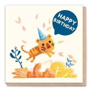 1 Tree Cards Happy Birthday Tiger
