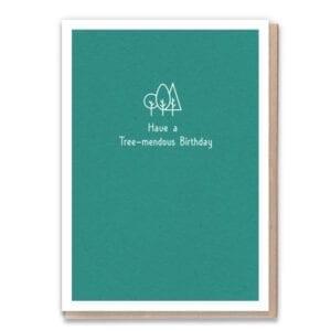 1 Tree Cards Tree-mendous Birthday