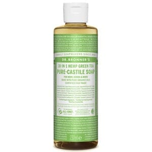 Dr Bronner Hemp Green Tea Pure Castile Liquid Soap 237ml