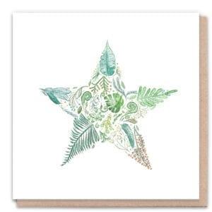 1 Tree Cards Green Star