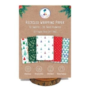 1 Tree Cards Festive Wrapping Paper Pack