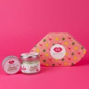 Pura Cosmetics Classic Coconut Lip Scrub & Balm Gift Set