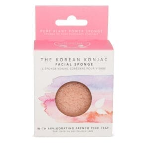 The Konjac Sponge Co Premium Facial Puff Sponge with Pink French Clay