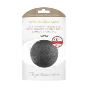 The Konjac Sponge Co Shaving Sponge with Bamboo Charcoal