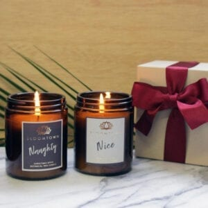 Bloomtown Christmas Scented Botanical Candle Duo in Gift Box