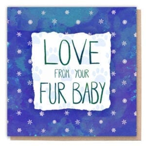 Love From Your Fur Baby Vegan Card