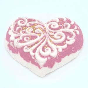 Unique Creations Laced Heart Bath Bomb