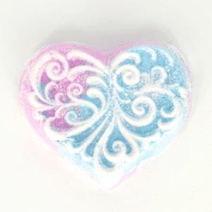 Snow Fairy Laced Heart Bath Bomb