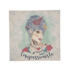 Viva La Vegan Vegan Compassionista Card