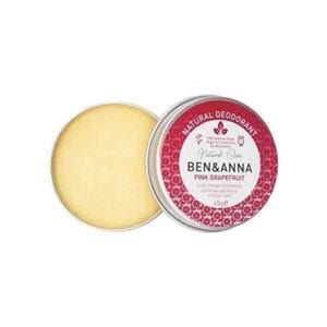 Ben & Anna Pink Grapefruit Deodorant Tin Open