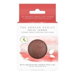 The Konjac Sponge Co Premium Facial Puff Sponge with Pink Red Clay