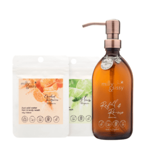 Milly & Sissy Candied Tangerine & Zesty Lime Hair & Body Wash Gift Set