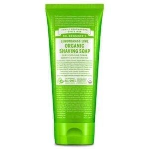 Dr Bronner Organic Lemongrass Lime Shaving Soap