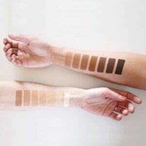 ZAO Foundation Stick Swatches on skin
