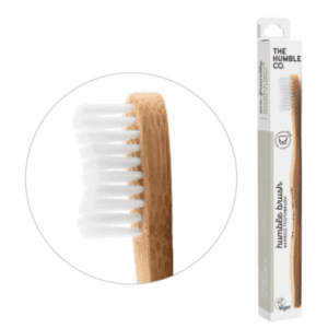 The Humble Co Adult Medium Bristles White Toothbrush