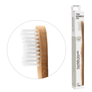 The Humble Co Adult Soft Bristles White Toothbrush