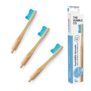 The Humble Co Blue Bamboo Toothbrush with Replaceable Heads