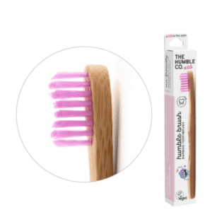 The Humble Co Kids Ultra Soft Bristles Pink Toothbrush