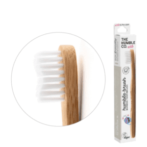 The Humble Co Kids Ultra Soft Bristles White Toothbrush