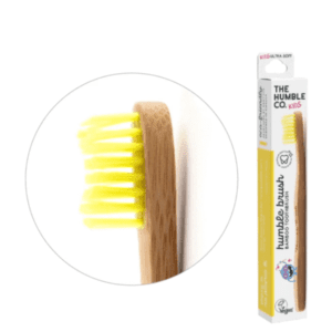 The Humble Co Kids Ultra Soft Bristles Yellow Toothbrush