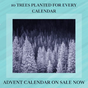 10 trees planted for every advent calendar.