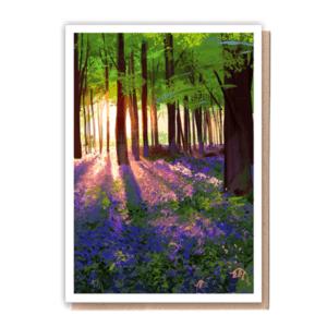 1 Tree Cards Bluebells