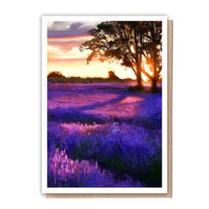 1 Tree Cards Lavender