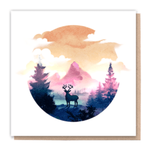 1 Tree Cards Stoic Deer