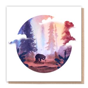 1 Tree Cards wandering Bear